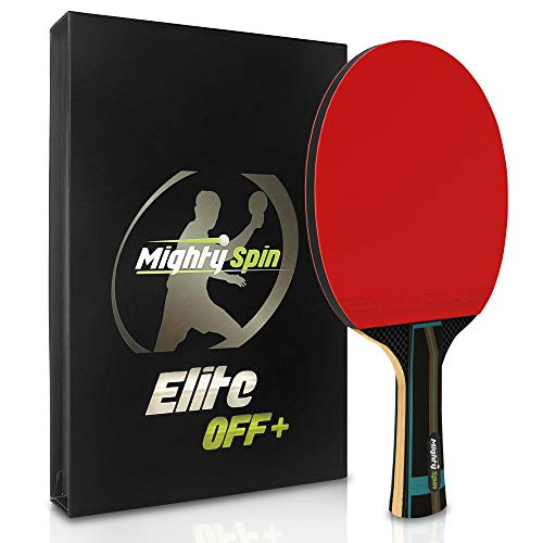 Check Out This MightySpin Quake Pro Carbon Paddle Professional Level Table Tennis Racket 2.1 mm Rubb...