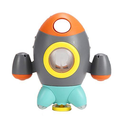 Sonline Juguetes de BaaO para BebéS Cohete Rociador de Agua Giratorio Juguetes de BaaO para BebéS Juego de Agua en el BaaO o en la Piscina Juguetes Divertidos Juguetes de BaaEra(B)