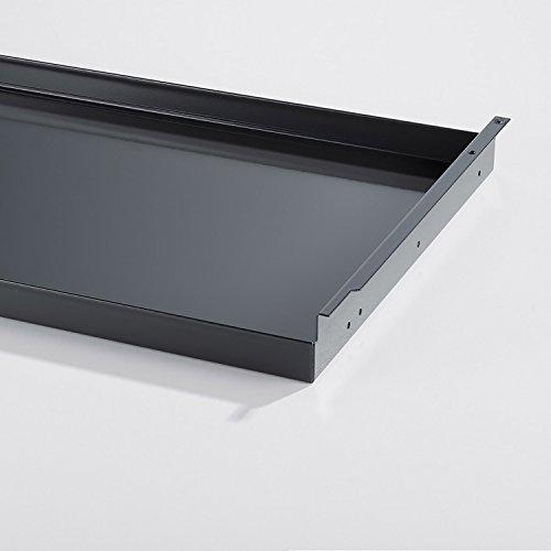 Swissmobilia Tableau extensible pour USM Haller RAL7016 - Gris anthracite - Élément en métal - Dimensions du système : 750 x 350 cm