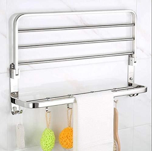 HPPSLT Asciugamani Piegatori Mobili Tovagliolo di Bagno Mensola in Acciaio Inox Lucidato Bagno Supporto del Tovagliolo della Cremagliera di Tovagliolo Towel Bar Rail