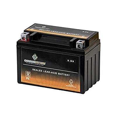 Chrome Battery YTX9-BS High Performance Maintenance Free Sealed AGM Motorcycle Battery (Replacement for Yuasa YUAM329BS EXT9 C GTX9-BS CTX9-BS)