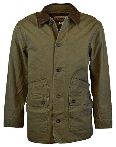 Orvis Men's Corduroy Collar Cotton Barn Jacket (Large, Sage)