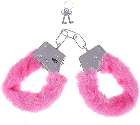 Fluffy Leather Wrist Handcuffs Bracelet Sexy Leg Ankle Cuffs Detachable Adjustable Leash Chain product image