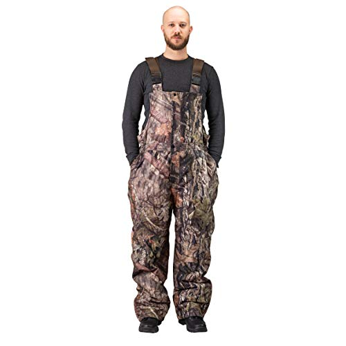 TrailCrest Men's Insulated & Waterproof Camo Bib Overalls, Mossy Oak Pattern, 3X, Breakup Country