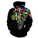 SIFNG Lustige Weltkarte Hoodie Männer Graffiti Hoodies 3D Karte Gedruckt Sweatshirt Herrenbekleidung Bunte Kapuzenpullover