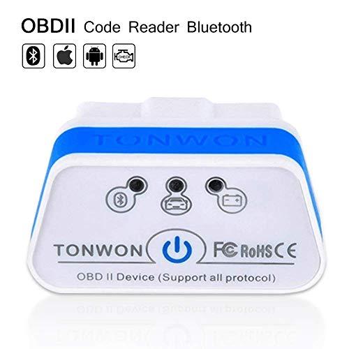 TONWON OBD2 Bluetooth ELM327 OBDII Strumento di Automatico Scansione per iOS e Android