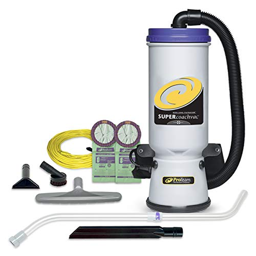 ProTeam Backpack Vacuums, Super CoachVac Commercial Backpack Vacuum...