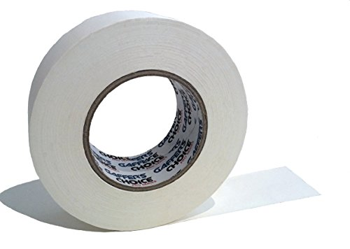 Gaffers Tape 2 inch x 60 Yard White by GAFFER'S CHOICE - Adhesive is Safer Than Duct Tape - Waterproof & Non-Reflective Multipurpose Gaffer Tape - Perfect Temporary Tape