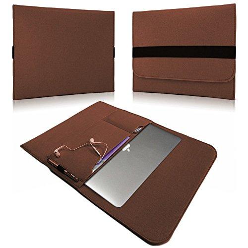 NAUC Laptop Tasche Sleeve Schutztasche Hülle Tablets MacBook Netbook Ultrabook Case kompatibel mit Samsung Apple Asus Medion Lenovo, Farben:Braun, Für Notebook:Archos 133 Oxygen