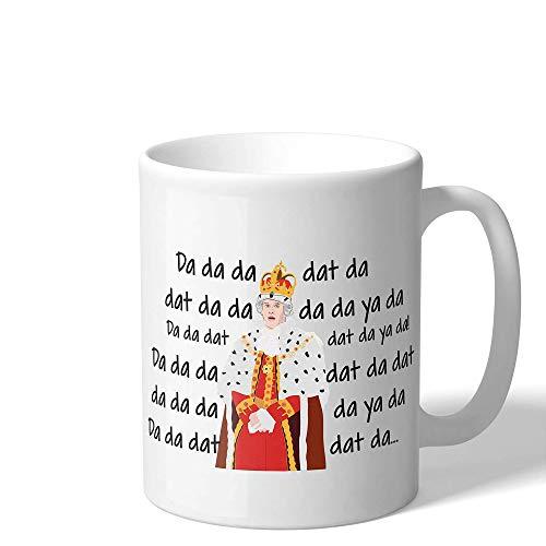 WENSHOGG King George Chorus Funny Hamilton Gift Coffee Mug, Alexander American Musical Novelty Cup, Ceramic Quote Movie Coffee Mugs (White)