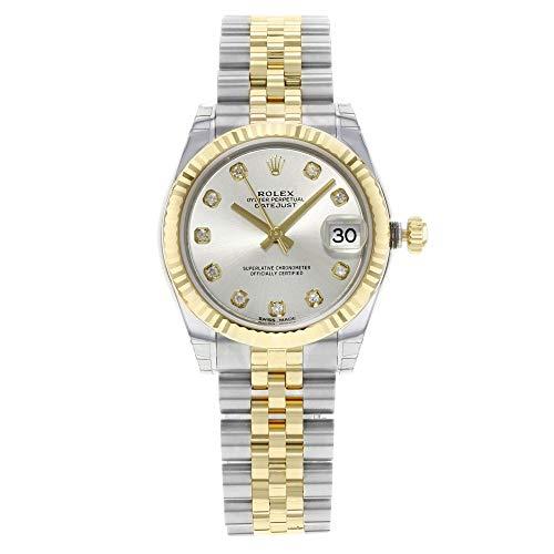 Rolex Datejust Lady 31automatico argento quadrante set con diamanti in...