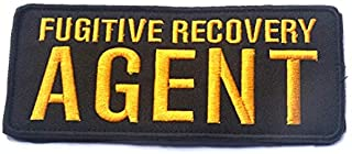 Fugitive Recovery Agent 3D Tactical Military Badges Embroidered Patch Back with Loops and Hook (color2)