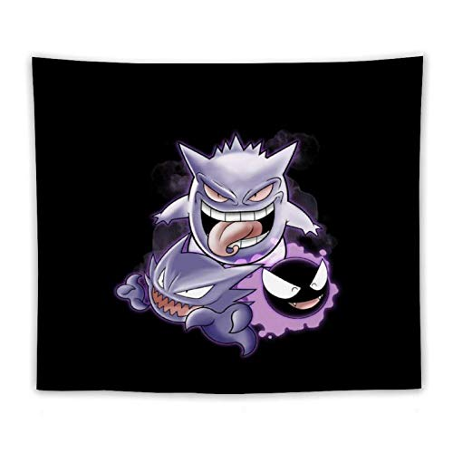 Sweet Dreams Ghastly Haunter Gengar Monster Of The Pocket Tapestry, bedroom tapestries, hippie tapestries, picnic cloth, tablecloths, dorm decorations (50 x 60 inches)