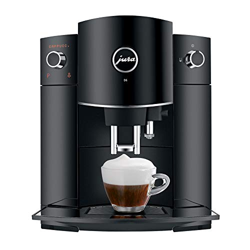 Jura 15215 D6 Automatic Coffee Machine, Black with Glass Milk Container Bundle (2 Items)