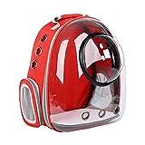 zdz Paquete Transparente del Portador de Mascotas, cápsula Espacial Limpie la Bolsa de Mascotas de Gran Capacidad, para Aquellos Que Tienen Mascotas, Necesitan Salir con Mascotas (Color : Red)