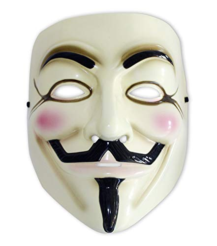 Close Up V for Vendetta Maske Guy Fawkes Anonymous