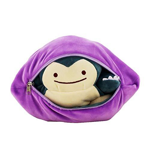 Kotee 35cm Plüschtier Snorlax Pokemon Plüsch-Spielzeug spezieller Entwurf Ditto Metamon Inside-Out Ditto Wird gefüllte Puppe-Kissen-Kissen Anime Spielzeug-Auto-Dekoration for Kinder Kinder Geschenke