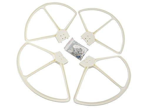 Fytoo 4pcs Propeller Protector for dji Phantom 3 Phantom 2 Phantom 1 RC Quadcopter Protector spare parts (White)