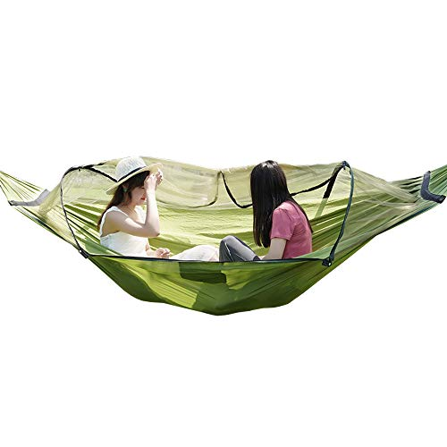 Lixada Portable Camping Hammock Outdoor Parachute Hammock Hammock Swing Bed with Mosquito Net for Outdoor Camping