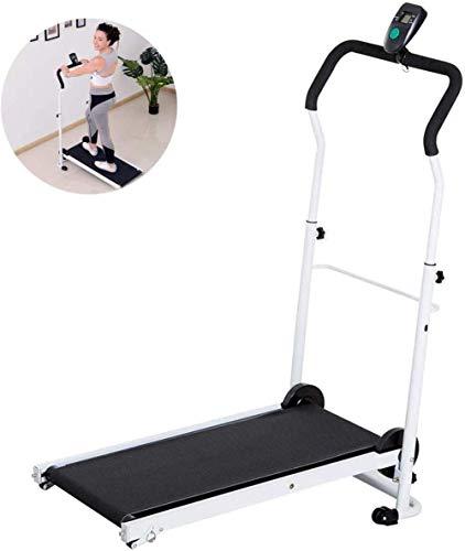 Loopband, opvouwbaar, handmatig, inklapbaar, LCD, kantelbaar, voor aerobic-training thuis, wandelen, klein gewichtsverlies, mini-afdekking