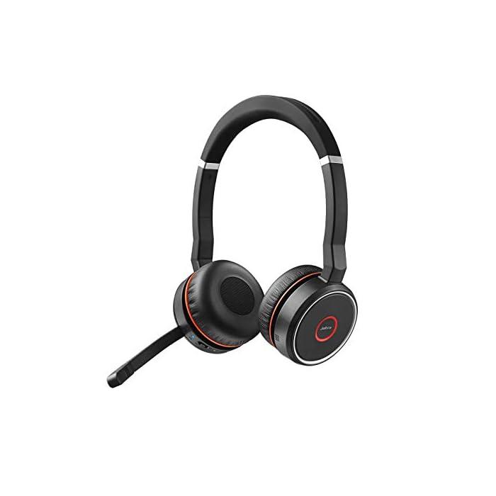 Jabra Evolve 75 MS Casque Stereo sans fil supra-auriculaire - Casque certifié Microsoft avec batterie longue durée…