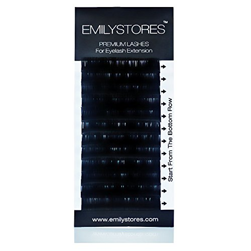 EMILYSTORES Eyelash Extensions 0.15mm Thickness J Curl Length 8mm Silk Mink Fake Eye Lashes In One Tray by EMILYSTORES