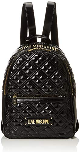 Love Moschino Damen BORSA QUILTED NAPPA PU Fashion, Schwarz, Normale