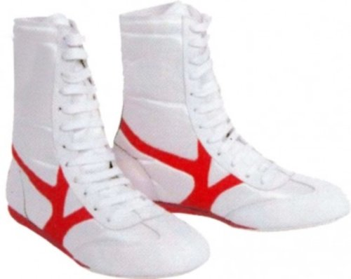 Budodrake Box-Stiefel Boxstiefel Nylon (weiß-rot, 39)