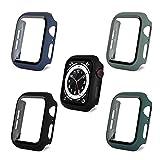 AOTUAO PC Coque Compatible avec Apple Watch SE Series 6 5 4 44mm, Protecteur Écran Verre Trempé en...