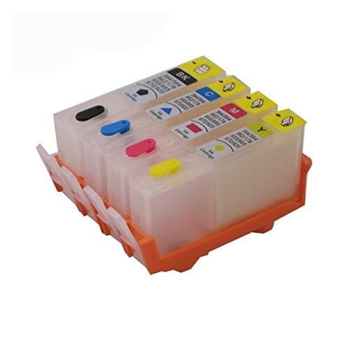 Cartucho de tinta Compatible con HP 655, adecuado para cartuchos de tinta recargables HP655, adecuados para HP Deskjet 3525 5525 4615 4625 4525 6520 6525 6625 impresora Reemplace el cartucho de tinta
