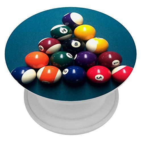 LORVIES Biljart Tafels Snooker Ballen Mount Houder Uitbreiding Telefoon Popper Grip en Stand Hand Houder Knop voor Mobiele telefoon,1 PCS