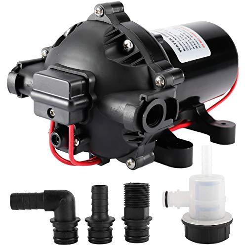 Yaegoo DC 12V Water Pressure Diaphragm Pump 18.9L/Min 5.0GPM 60PSI/4.2Bar for Caravan, RV, Boat, Marine