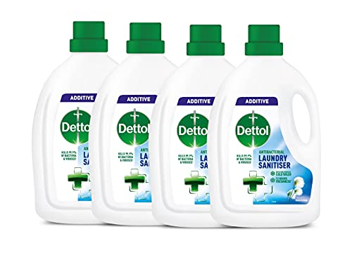 Dettol Antibacterial Laundry Cleanser Additive, Fresh Cotton, Multipack of 4 x 1.5 Litre (Packaging May Vary)