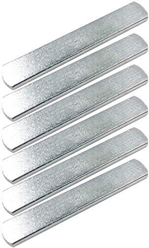 SENTOP 6 x Stahlplatten für Gewichtsweste, Krafttraining für Gewichtstraining, Fitness (je 0,2 kg).