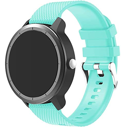 Simpleas Correa de Reloj Compatible con Amazfit Pace/Stratos/GTR 47mm, Impermeable Reemplazo Correas Reloj Silicona Banda (22mm, Menta Verde)