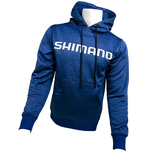 SHIMANO Sudadera con capucha de rendimiento para pesca, S, Azul Royal