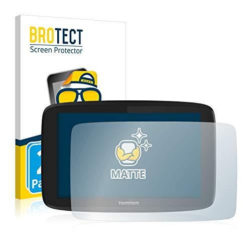 BROTECT 2X Entspiegelungs-Schutzfolie kompatibel mit Tomtom GO 620 Bildschirmschutz-Folie Matt, Anti-Reflex, Anti-Fingerprint
