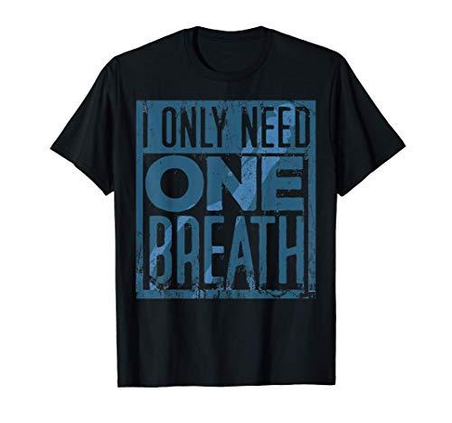 Camisa de buceo a pulmón, buceo de piel, una respiración Camiseta