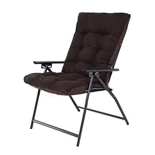 Shisyan Silla plegable Ocio Mueble de casa heces cubierta plegable grande for adultos Luna Silla de Sun desmontable sofá perezoso plegable silla de camping, (color: marrón, tamaño: 67 * 55 * 170cm) Si