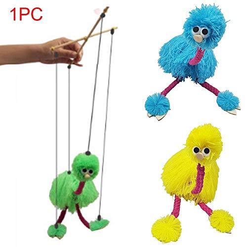 CVERY 2pcs Tirar Cuerda Cachorro Juguete Niños Marioneta Mu