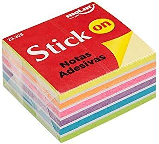 Bloco de Notas Adesivas Molin Neon 76x76mm 400 Folhas