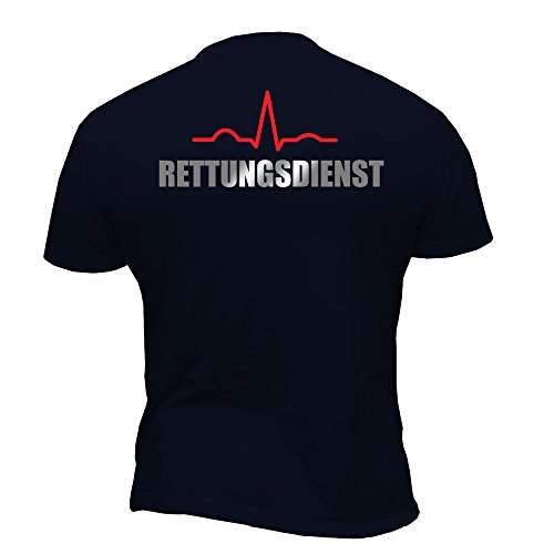 Rescue Point Rettungsdienst Herren Kurzarm T-Shirt KRETTER1 (XL)