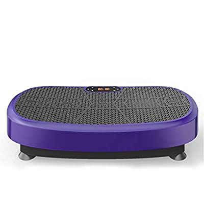 ZHAN YI SHOP Vibration Fitness Machine, Anti-Slip Vibrating Platform Exercise with Built-in Bluetooth Speakers, Workout Trainer, Ideal for All Body Types & Age Groups. (Color : Purple)