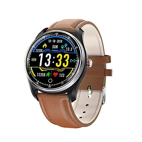 JXFF Reloj Inteligente De Los Hombres PPG + ECG IP68 IP68 Reloj De Ritmo Cardíaco A Prueba De Agua A Prueba De Agua Presión Arterial Deportes Smartwatch para Android iOS PK N58 Q9,B