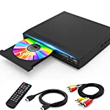 DVD Player with HDMI AV Output, DVD Player for TV, Contain HD with Coaxial Output/ AV Cable/ Remote Control/ USB Input, Region Free Home DVD Players, Tojock