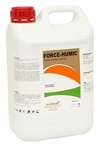 CULTIVERS Force-Humic de 5 l. Fertilizante - Abono de Ácidos Húmicos y Fúlvicos de Leonardita. Potencia la fertilidad del Suelo Mejora la Capacidad de absorción de nutrientes y desarrolla la raíz