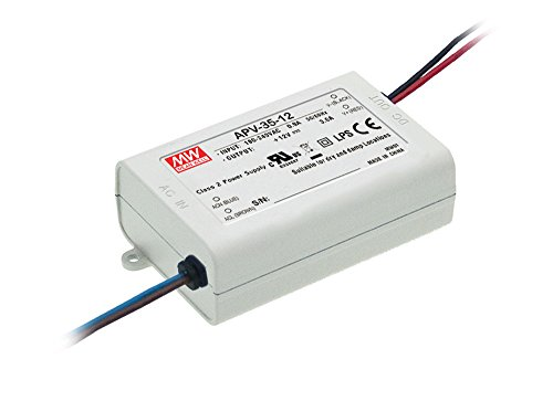 MEAN WELL, Cambiar La Fuente De Alimentación,Converter Para la luz De Tira Flexible Del LED, El Transformador, 110/220V AC-DC Switching Power Supply 35W 24V 1.5A (APV-35-24)