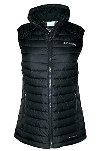 Columbia Women's White Out Puffer Omni Heat Full Zip Insulated Vest (Black, S)