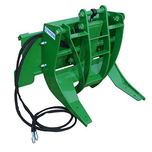 "Titan 29"" Hydraulic Log Grapple Attachment Fits John Deere Hook and Pin Tractors"