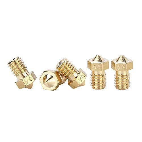ANYCUBIC Messing 0,4mm 3D Drucker Düsen Extruder Druckkopf für 1.75mm ABS PLA Filament für Mega (M6 Gewinde Düse)